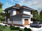 Двухэтажный дом с гаражом, террасой и балконом